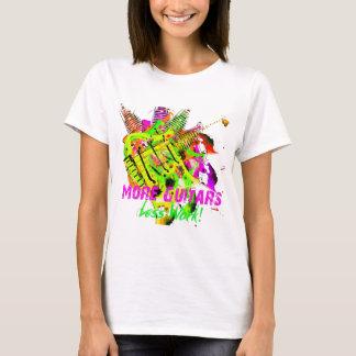 """Camiseta De """"t-shirt da série mais guitarra"""""""