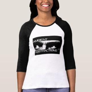 Camiseta De t-shirt das mulheres paranóides das abstracções