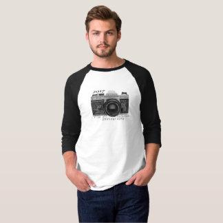 Camiseta de t-shirt do basebol da luva dos homens 3/4