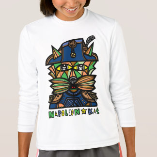 "Camiseta De ""t-shirt do esporte das meninas Napoleon Kat"""