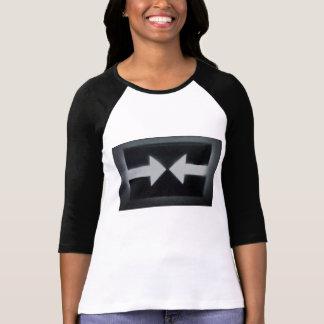 Camiseta De t-shirt do Raglan da luva das mulheres 3/4