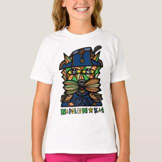 """Camiseta De """"t-shirt do TAGLESS® das meninas Napoleon Kat"""""""
