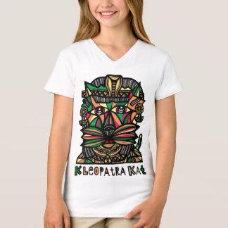 """Camiseta De """"t-shirt do V-Pescoço das meninas Kleopatra"""