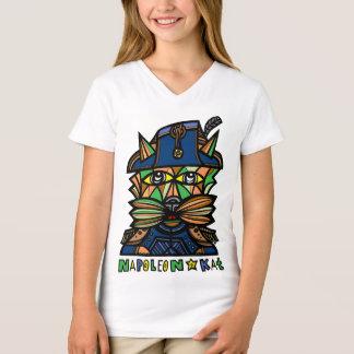 """Camiseta De """"t-shirt do V-Pescoço das meninas Napoleon Kat"""""""