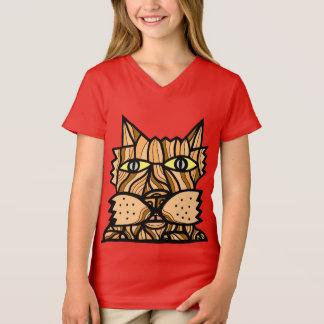 """Camiseta """"Dê t-shirt do V-Pescoço de mais meninas dos"""
