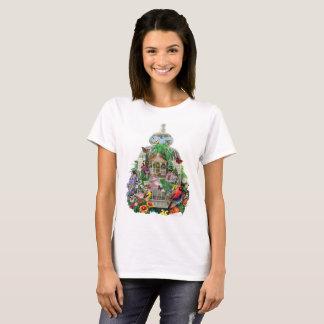 """Camiseta De """"t-shirt e mais do jardim da gaiola pássaro"""" de"""