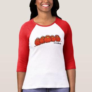 Camiseta De Tshirt do Raglan da luva das mulheres 3/4