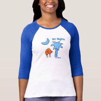 Camiseta De Tshirt do Raglan da luva das mulheres de