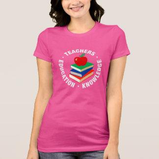 Camiseta De volta à escola, aos livros e ao Apple