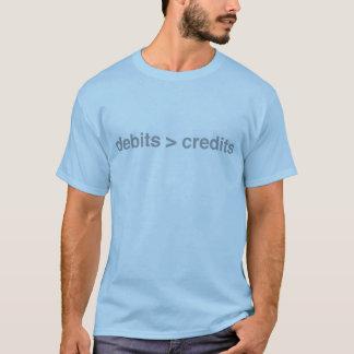 Camiseta Débitos maiores do que o t-shirt dos créditos