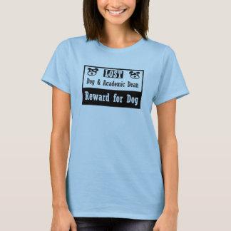 Camiseta Decano académico do cão perdido