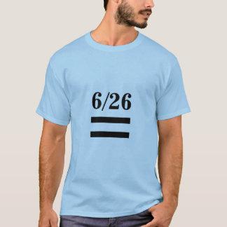 Camiseta decisões de 6/26 de igualdade do casamento