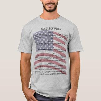 Camiseta Declaração de Direitos da bandeira dos E.U.