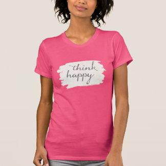Camiseta Deco macio V | pensa feliz