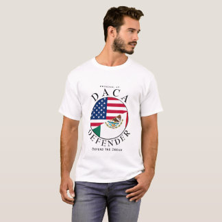 Camiseta DEFENSOR de DACA no branco