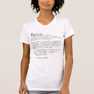 Camiseta definição da fé