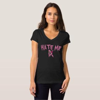 """Camiseta """"Deie-me"""" t-shirt do V-Pescoço das mulheres"""