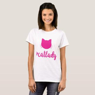 Camiseta Deixa todos saber que você é uma senhora do gato!