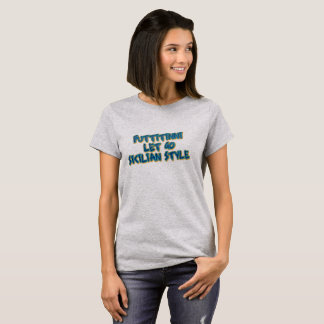 Camiseta Deixado vai o t-shirt retro do estilo siciliano
