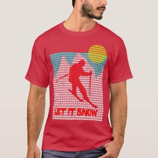 Camiseta Deixais lhe para nevar gráfico feio do Xmas do
