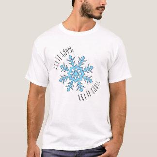 Camiseta Deixais lhe para nevar o t-shirt dos homens -