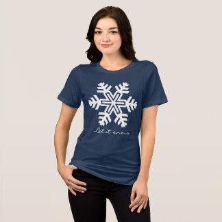 Camiseta Deixais lhe para nevar obscuridade customizável