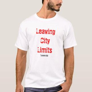 Camiseta Deixando limites de cidade
