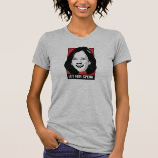 Camiseta Deixe-a falar - Kamala Harris -
