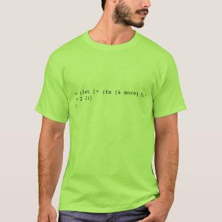 Camiseta (deixe [+ (fn [& mais] 5)] (+ 2 2))