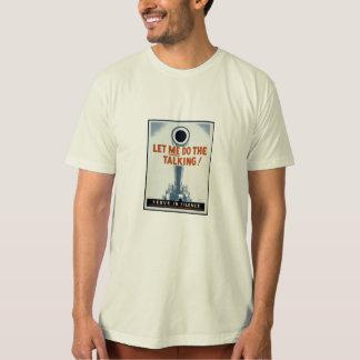 Camiseta deixe-me fazer a fala