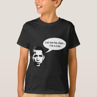 Camiseta Deixe-me ser claro… Barack Obama é um mentiroso
