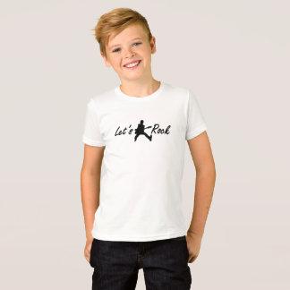 Camiseta Deixe-nos balançar miúdos