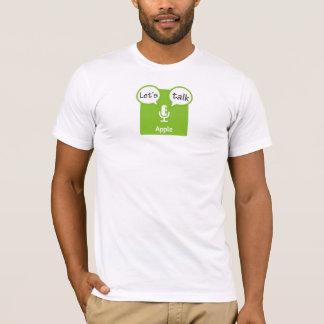Camiseta Deixe-nos falar o t-shirt de Apple