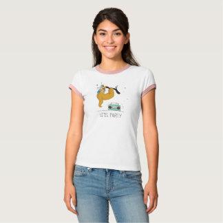 "Camiseta ""Deixe-nos Party"" o t-shirt bonito das mulheres da"