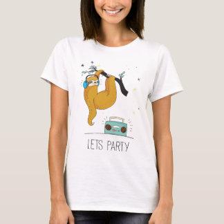 Camiseta Deixe-nos Party o t-shirt bonito das mulheres da