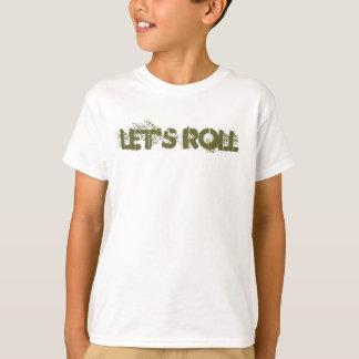 Camiseta Deixe-nos rolar o T dos meninos