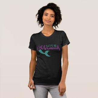 Camiseta Deixe-nos ser textura roxa do brilho da cerceta