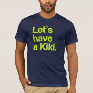 Camiseta Deixe-nos ter um kiki (o néon)