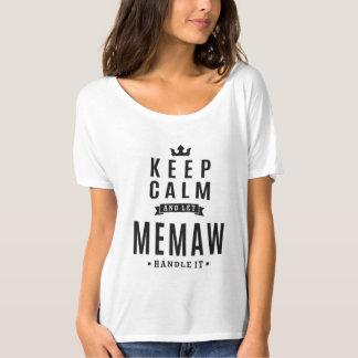 Camiseta Deixe o punho de Memaw ele!