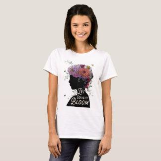 Camiseta Deixe o t-shirt das mulheres da flor da igualdade