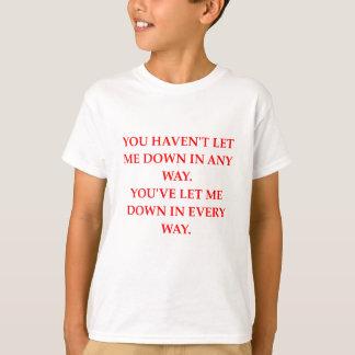 Camiseta deixe para baixo