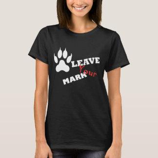 Camiseta Deixe seu t-shirt do impressão da pata do leão da