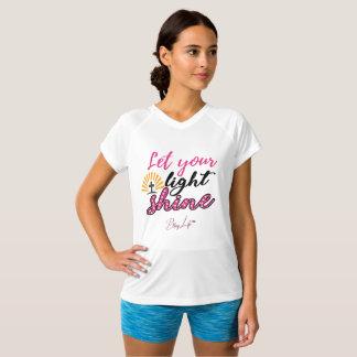 Camiseta Deixe seu t-shirt Dobro-Seco brilhante do brilho