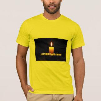 Camiseta Deixe seu t-shirt leve do brilho