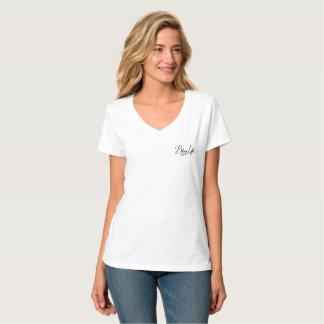 Camiseta Deixe seu t-shirt Nano do V-Pescoço do brilho