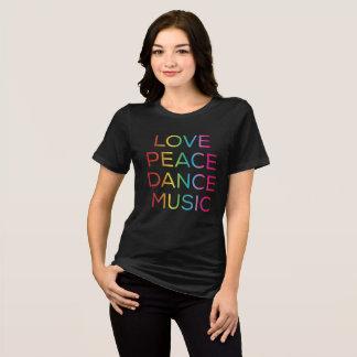 Camiseta Delírio eletrônico da música de dança da paz do