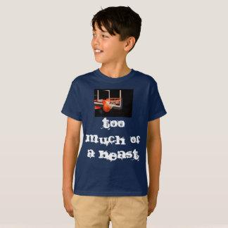 Camiseta Demasiado de um animal