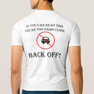 "Camiseta ""Demasiado perto"" partes superiores ativas do"