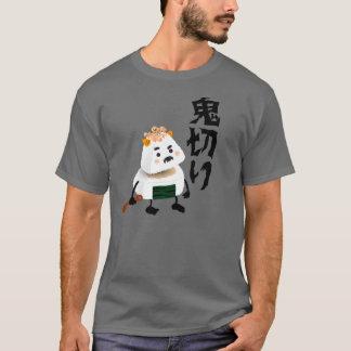 Camiseta Demónio de Onigiri (Oni) cortado (Giri) ao meio!