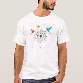 Camiseta Dente-de-leão e pássaro